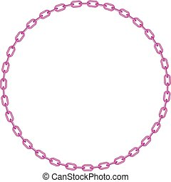rosa, forma, círculo, cadena