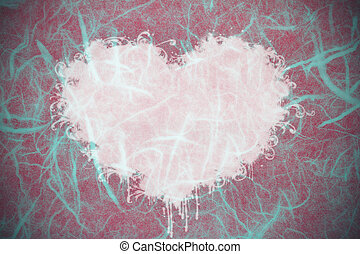 rosa, forma cuore, carta, struttura