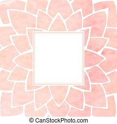 rosa, frame., ilustración, acuarela, vector, floral