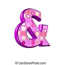 rosa, freigestellt, zeichen, hintergrund, weißes, 3d