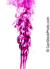 rosa, fumo, bianco, fondo., arte astratta