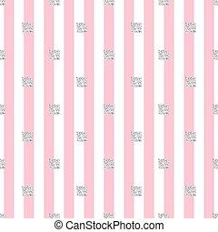 rosa, fyrkant, mönster, seamless, galon, bakgrund, glitter, silver