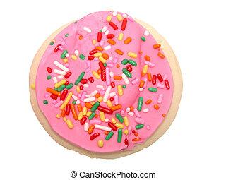 rosa, galleta, helado
