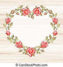rosa, ghirlanda