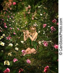rosa, giardino, cg, 3d