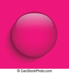rosa, glas, kreis, taste, ikone