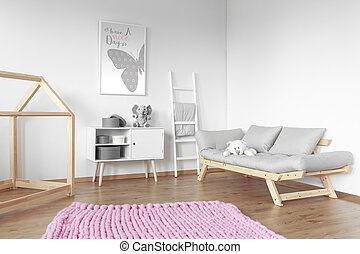 rosa, groß, teppich