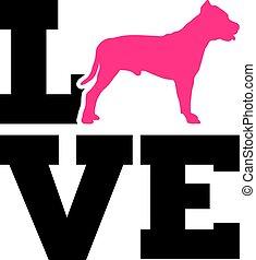 rosa, grube, silhouette, liebe, stier