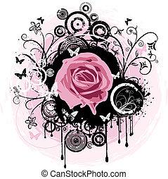 rosa, grunge