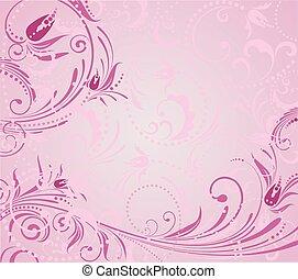 rosa, grunge, fondo