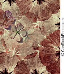 rosa, grungy, flor, fondo rojo