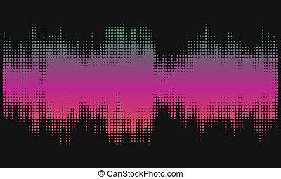 rosa, halftone, sammandrag formge, bakgrund, in, den, bilda, av, wave.