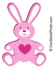 rosa, hare., applique