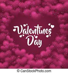 rosa, hearted, plano de fondo, con, un, valentines, day.