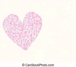 rosa, herz, liebe, winter, schnee