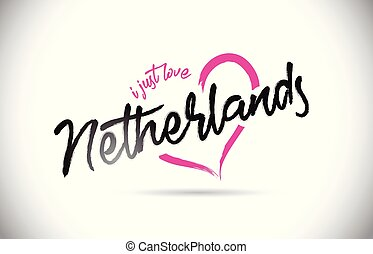 rosa, herz, niederlande, wort, gerecht, text, form., liebe, schriftart, handgeschrieben