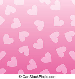 rosa, hjärta mönstra, seamless, bakgrund., årgång