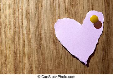 rosa, hjärta