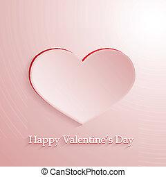 rosa, hjärta, vektor, kärlek