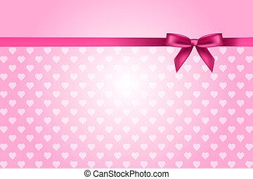 rosa, hjärtan, bakgrund