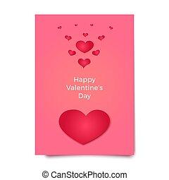 rosa, illustration., manifesto, scheda, broshure, valentine...