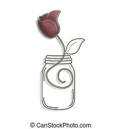 rosa, ilustração