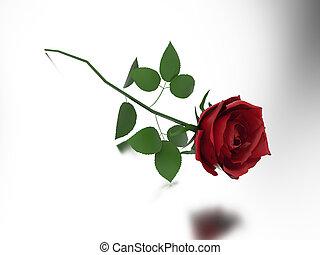 rosa, ilustração, vermelho, 3d
