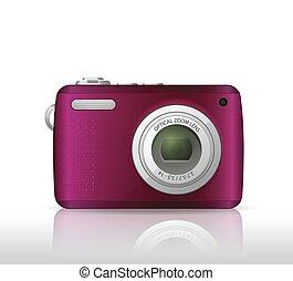 rosa, immagine, macchina fotografica, digitale