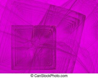 rosa, immagine, viola, curve, squadre, fractal