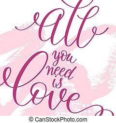 rosa, iscrizione, amore, modello, disegno, grunge, originale
