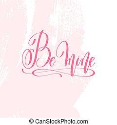 rosa, iscrizione, essere, manifesto, -, miniera, mano, colpo, spazzola, modello