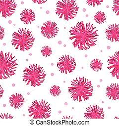 rosa, ivrig, projects., themed, mönster, giftwrap, tyg, seamless, gåvor, bakgrund., vektor, pompoms, scrapbooking, hejarklacksanförare, emballering