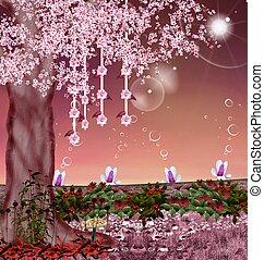 rosa, jardín