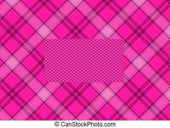 rosa, kariert, hintergrund