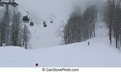 Rosa Khutor Alpine Resort in the mist