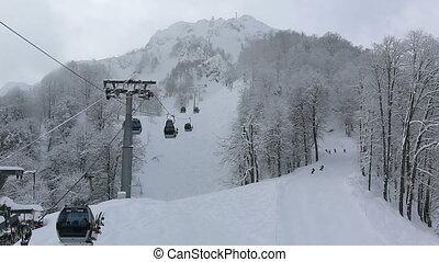 Rosa Khutor Alpine Resort. Time Lapse - Rosa Khutor Alpine...
