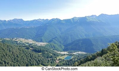 Rosa Khutor Olympic Village. View from above. Russia, Sochi....