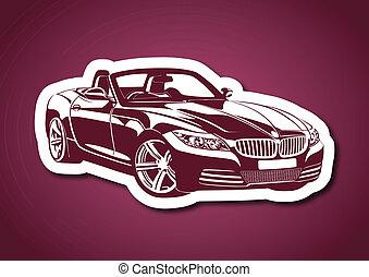 rosa, koenig, aus, sport, autos