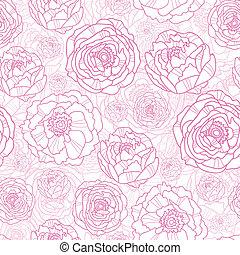 rosa, konst, mönster, seamless, bakgrund, fodra, blomningen