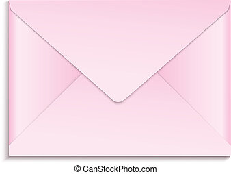rosa, kuvert