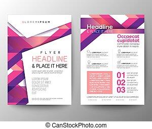 rosa, layout, bakgrund, affisch, abstrakt, vektor, design, mall, broschyr, magenta, flygare