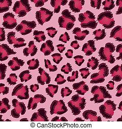 rosa, leopardo, pattern., seamless, struttura
