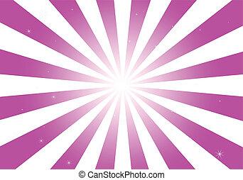 rosa, leuchtsignal, funkelt, runder