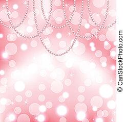rosa, lindo, Plano de fondo, perlas