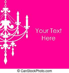 rosa, ljuskrona, bakgrund