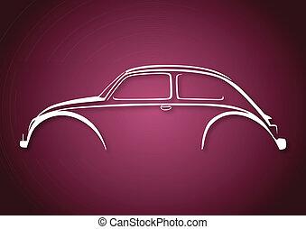rosa, logotipo, sopra, auto, dolce