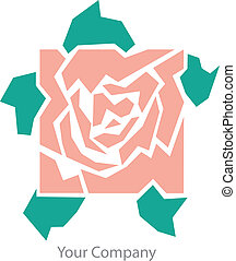 rosa, logotipo