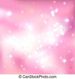 rosa, luce festiva, fondo., luminoso, design.