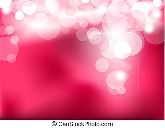 rosa, luces, resumen, encendido
