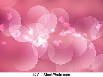 rosa, luci, bokeh, fondo, 1107